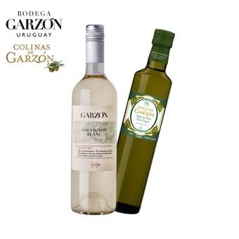 Kit Vinho Branco Garzón Sauvignon Blanc 750ml+ Azeite Colinas de Garzón Bivarietal 500ml