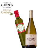 Kit Vinho Branco Garzón Single Vineyard Albariño 750ml+ Azeite Colinas de Garzón Corte Italiano 500ml