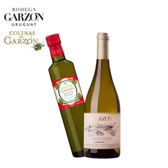 Kit Vinho Branco Garzón Single Vineyard Albariño 750ml+ Azeite Colinas de Garzón Corte Italiano 500ml