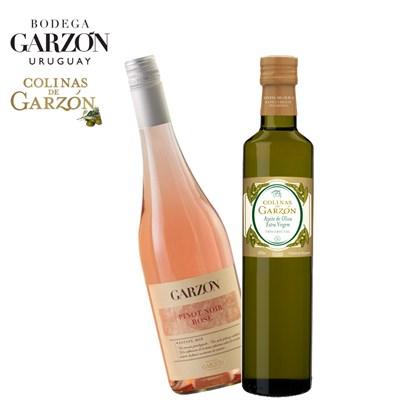 Kit Vinho Rosé Garzón Estate 750ml+ Azeite Colinas de Garzón Corte Trivarietal 500ml