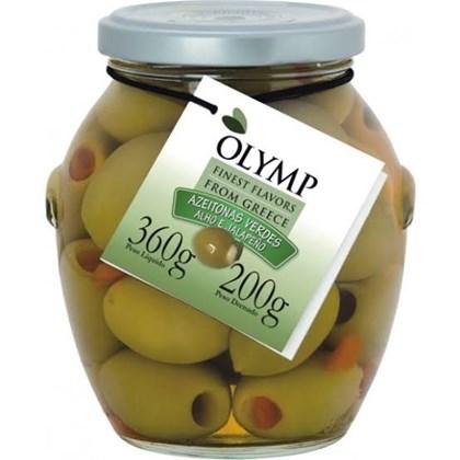 Olymp Azeitonas Verdes com Alho e Jalapeño 200g